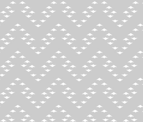 WhiteChevronGeese fabric by mrshervi on Spoonflower - custom fabric
