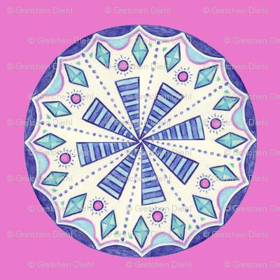 Blue Folk Wheel