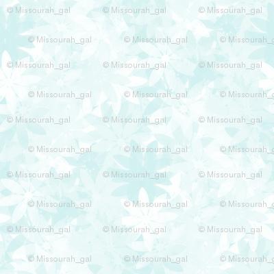 GIMP_SSD_impressAqua and White Impressionist Flowers