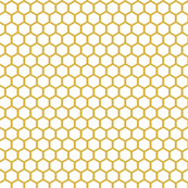 White Golden Honeycomb