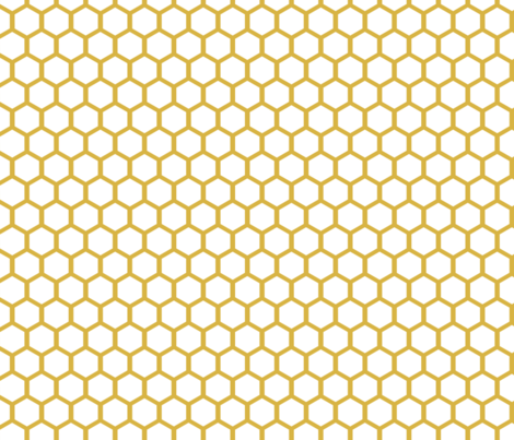 White Golden Honeycomb fabric by mrshervi on Spoonflower - custom fabric