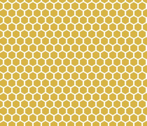 Golden Honeycomb fabric by mrshervi on Spoonflower - custom fabric