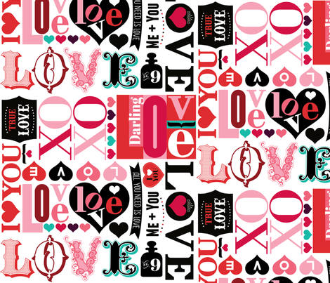 Love Letters fabric by cynthiafrenette on Spoonflower - custom fabric