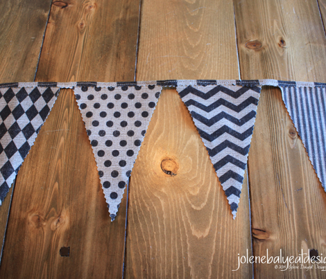 Bunting Flags on Linen
