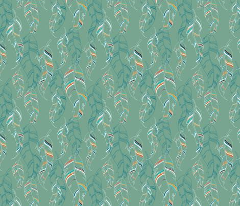 feathers fabric by jodysart on Spoonflower - custom fabric