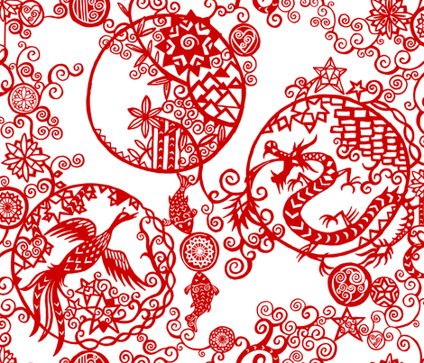 Pieces of China: Clusters fabric by ladykerry on Spoonflower - custom fabric