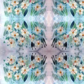 Watercolor Floral - Teal