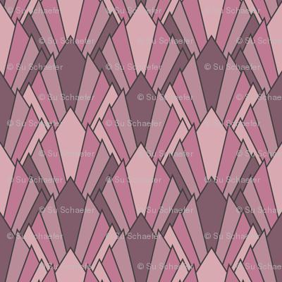 Art deco diamond fans, puce-pinks by Su_G