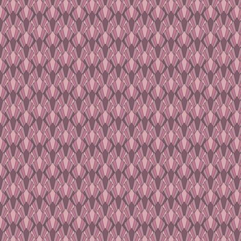 Art deco diamond fans, puce-pinks by Su_G fabric by su_g on Spoonflower - custom fabric