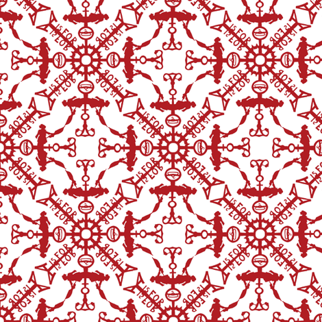 A is for Snowflake fabric by kitcameo on Spoonflower - custom fabric