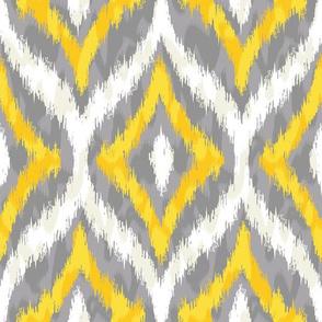 Animal Ikat Ogee Pattern