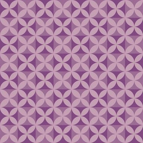 Plumeria Tapa Cloth Violets
