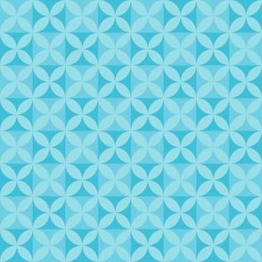 Plumeria Tapa Cloth Blues