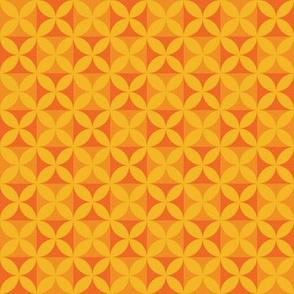 Plumeria Tapa Cloth Oranges
