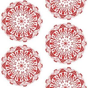 mandala style chinese paper cutting