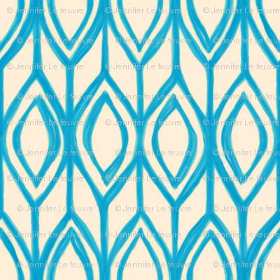 Blue & Cream Tulip Knit