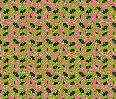 Halloween Brain BAT pattern fabric by kostolom3000 on Spoonflower - custom fabric