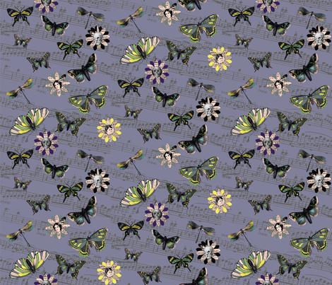 Butterfly_skull_waltz fabric by peppermintpatty on Spoonflower - custom fabric
