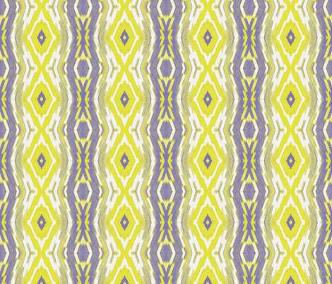 Boho Chickadee Ikat, curved fabric by susaninparis on Spoonflower - custom fabric