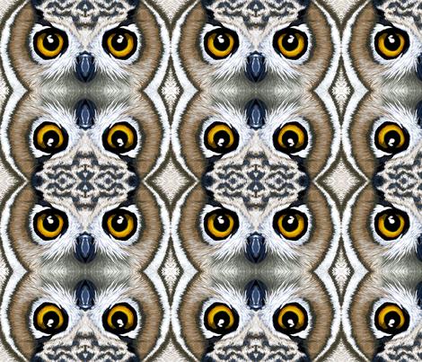 owl eyes fabric by shiro on Spoonflower - custom fabric
