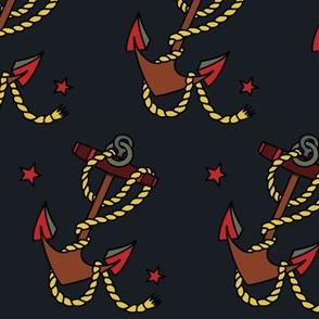 Anchor dark fabric