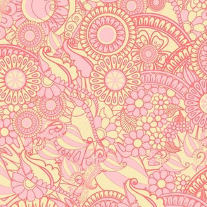 Henna Flower Fruit - Pink