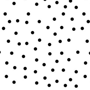 polka dot black on white | pencilmeinstationery.com