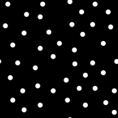polka dot white on black
