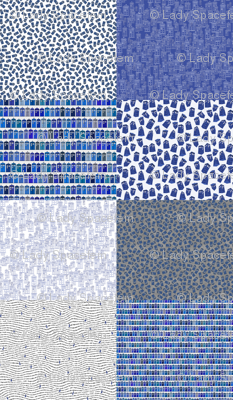 blue and white fat quarter bundle