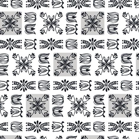 Dutch Garden - gray fabric by sara_smedley on Spoonflower - custom fabric