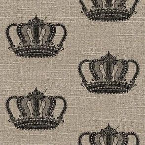 Vintage Crown on Linen