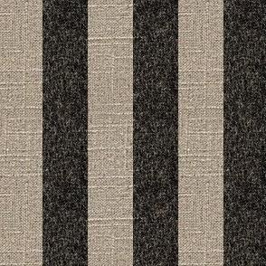 Black Stripe on Linen