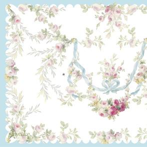 Rococo Roses Tea Towel