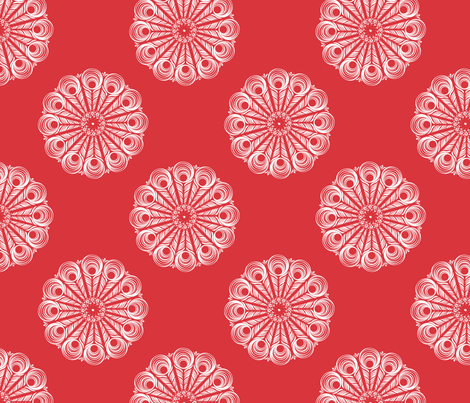 ChineseMandala - red fabric by risa|designs on Spoonflower - custom fabric