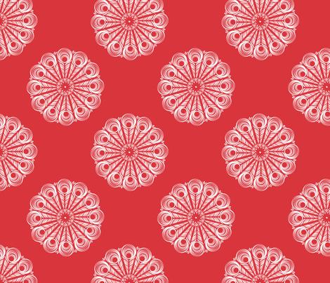 ChineseMandala - red fabric by risa|designs on Spoonflower - custom fabric