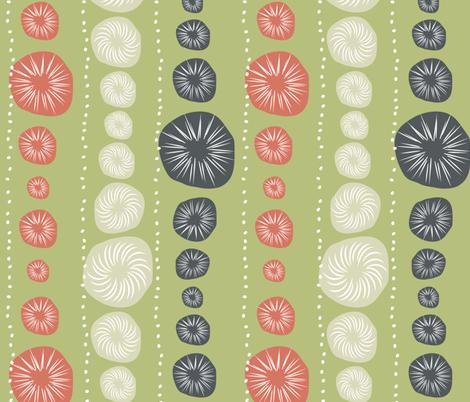 Sea Urchin Green fabric by designedtoat on Spoonflower - custom fabric