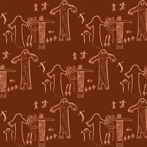 ancient evidence dark rust brown fabric by keweenawchris on Spoonflower - custom fabric
