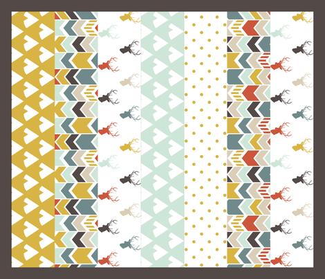 Tribal Deer Quilt fabric by mrshervi on Spoonflower - custom fabric