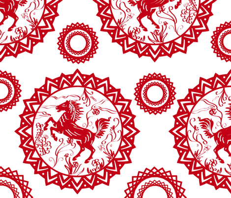 Year_of_the_Horse fabric by ttpie on Spoonflower - custom fabric