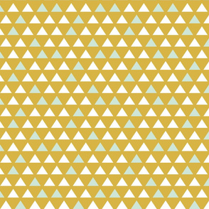 gold mint triangles