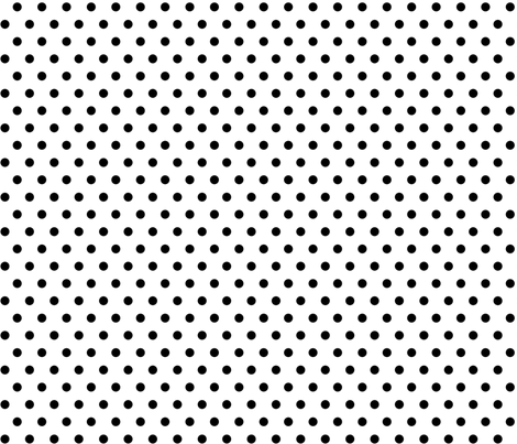 BlackPolka fabric by mrshervi on Spoonflower - custom fabric