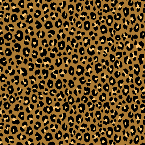Gold - Leopard fabric by kimsa on Spoonflower - custom fabric