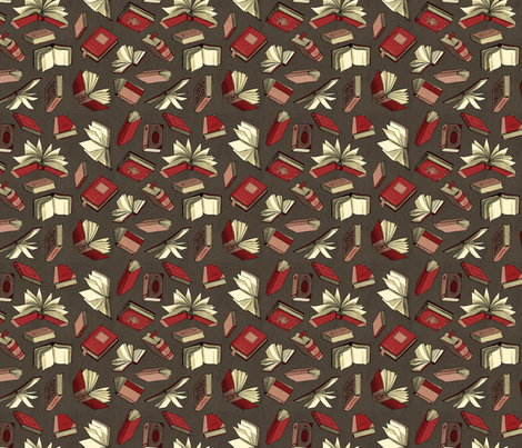 Book Storm fabric by elizabeth_baddeley on Spoonflower - custom fabric