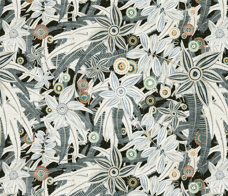 floral pale fabric by kociara on Spoonflower - custom fabric