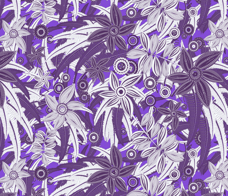 floral violet fabric by kociara on Spoonflower - custom fabric