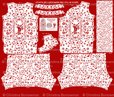 Chinese Girl's Dress Pattern and Bloomers- Cut and Sew