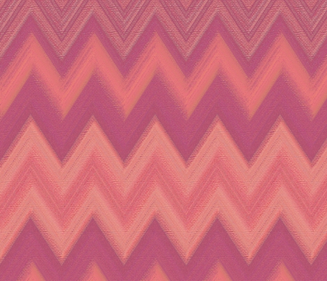 chalk chevron pink fabric by weavingmajor on Spoonflower - custom fabric