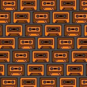 Vintage Orange Brown Compact Cassette