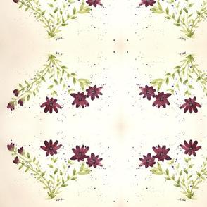 Burgundy & Olive Floral