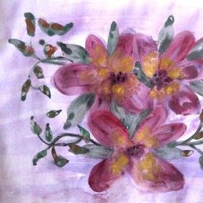 Purple Floral Trio